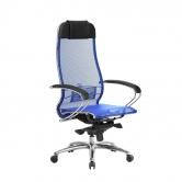 Компьютерное кресло МЕТТА Samurai S-1.04 сетка синий