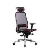 Компьютерное кресло МЕТТА Samurai S-3.04 сетка бордовый