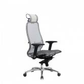 Компьютерное кресло МЕТТА Samurai S-3.04 сетка белый лебедь