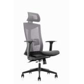 Офисное кресло College CLG-428 MBN-A серый/черный