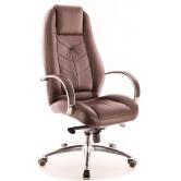 Офисное кресло EVERPROF  DRIFT FULL AL M натуральная кожа коричневый