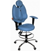 Детское кресло для школьника  Kulik System TriO (голубой)