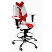 Детское кресло Kulik System Fly (бело-красный)