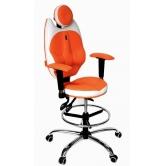 Детское кресло Kulik System TriO (бело -оранжевый)