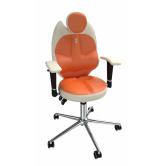 Детское кресло для школьника Kulik System TriO (бело-оранжевый)