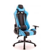 Кресло игровое Everprof Lotus S5 Экокожа Голубой/Черный