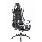 Кресло игровое Lotus Everprof S1 Экокожа Белый/Черный