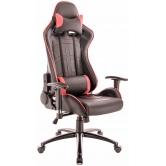 Кресло игровое Everprof Lotus S10 Экокожа Красный/Черный
