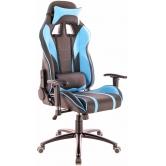 Кресло игровое  Everprof Lotus S16 Экокожа Голубой/Черный
