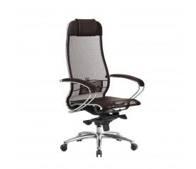Кресло руководителя МЕТТА Samurai S-1.04 сетка коричневый