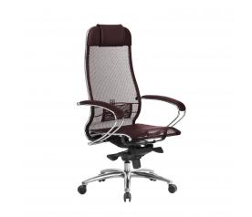 Кресло руководителя МЕТТА Samurai S-1.04 сетка бордовый