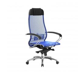 Кресло руководителя МЕТТА Samurai S-1.04 сетка синий