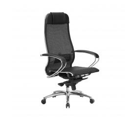 Кресло руководителя МЕТТА Samurai S-1.04 сетка черный плюс