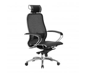 Кресло руководителя МЕТТА Samurai S-2.04 сетка черный плюс