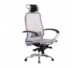 Кресло руководителя МЕТТА Samurai S-2.04 сетка серый