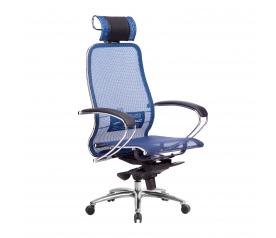 Кресло руководителя МЕТТА Samurai S-2.04 сетка синий