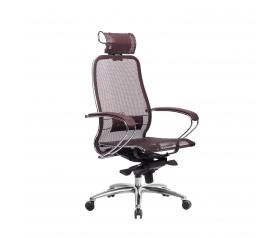 Кресло руководителя МЕТТА Samurai S-2.04 сетка бордовый