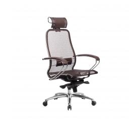 Кресло руководителя МЕТТА Samurai S-2.04 сетка коричневый