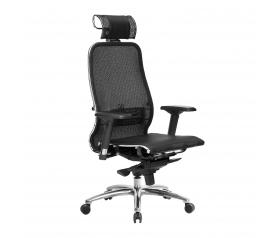 Кресло руководителя МЕТТА Samurai S-3.04 сетка черный плюс