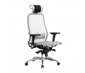 Кресло руководителя МЕТТА Samurai S-3.04 сетка серый