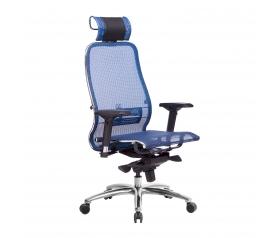 Кресло руководителя МЕТТА Samurai S-3.04 сетка синий