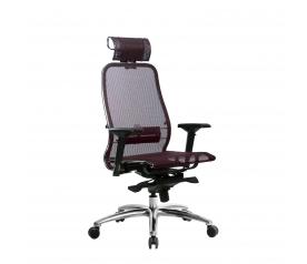 Кресло руководителя МЕТТА Samurai S-3.04 сетка бордовый
