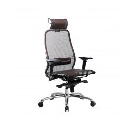 Кресло руководителя МЕТТА Samurai S-3.04 сетка коричневый