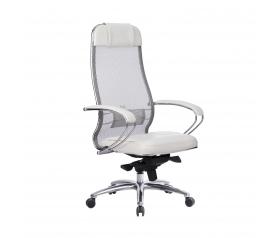 Кресло руководителя МЕТТА Samurai SL-1.04 белый лебедь