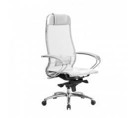 Кресло руководителя МЕТТА Samurai S-1.04 сетка белый лебедь