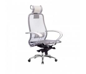 Кресло руководителя МЕТТА Samurai S-2.04 сетка белый лебедь