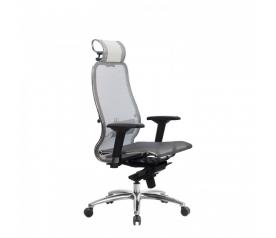 Кресло руководителя МЕТТА Samurai S-3.04 сетка белый лебедь