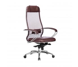 Кресло руководителя МЕТТА Samurai SL-1.04 бордовый
