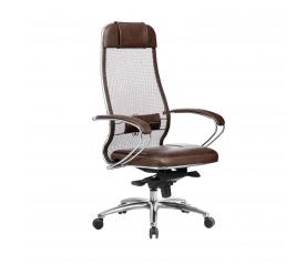 Кресло руководителя МЕТТА Samurai SL-1.04 коричневый
