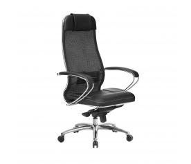 Кресло руководителя МЕТТА Samurai SL-1.04 черный плюс