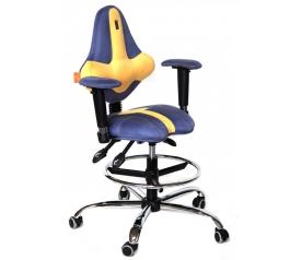 Детское компьютерное кресло Kulik System Kids (сине-желтый)