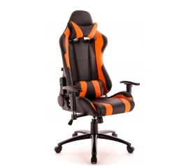 Кресло игровое Everprof Lotus S2 Экокожа Черный/Оранж