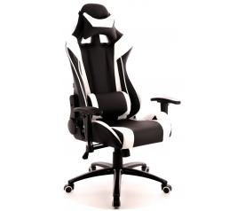 Кресло игровое  Everprof Lotus S6 Экокожа Белый/Черный