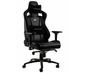 Кресло игровое Noblechairs EPIC (NBL-PU-GOL-002), Black gold