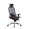 Компьютерное кресло МЕТТА Samurai S-3.04 сетка бордовый # 1