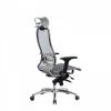 Кресло руководителя МЕТТА Samurai S-3.04 сетка белый лебедь # 1