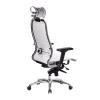 Кресло руководителя МЕТТА Samurai K-3.04 белый лебедь # 1