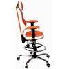 Детское кресло для школьника Kulik System TriO (бело-оранжевый) # 1